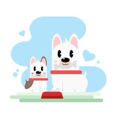 Entzückende Hundemutter und -welpe