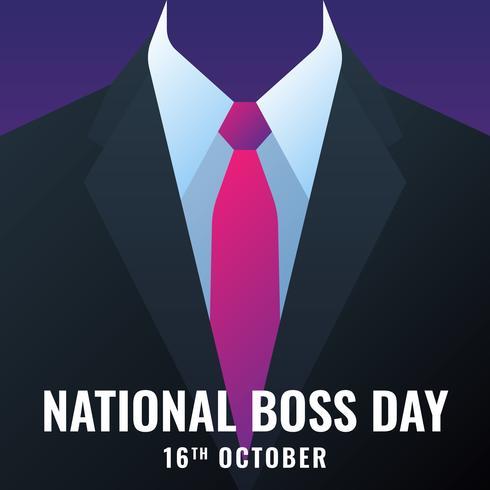 Carte de modèle de la journée nationale des patrons