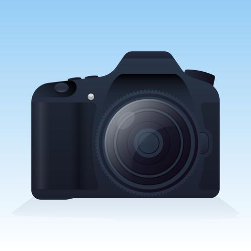 Illustration d'appareil photo numérique réaliste sur fond