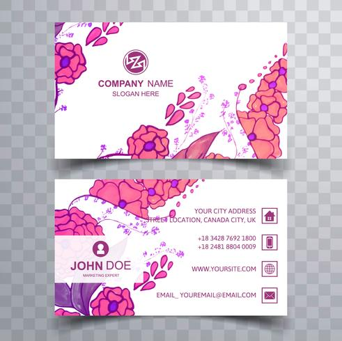 Abstract colorful floral business card template download free abstract colorful floral business card template wajeb Images