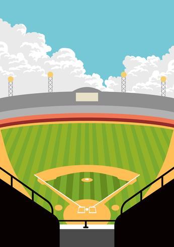 uitzicht op het honkbalpark