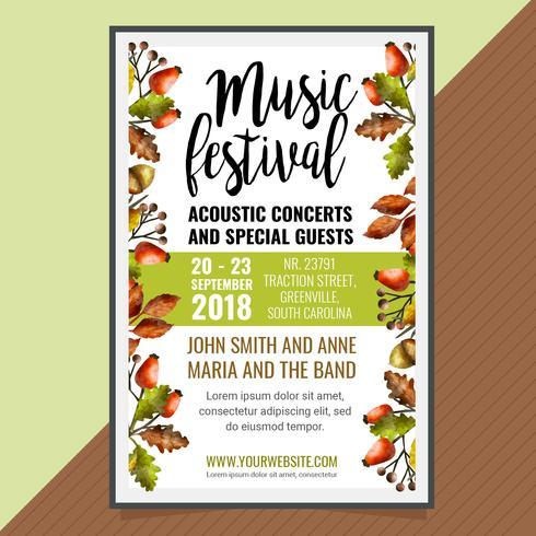 Vektor Herbst Festival Poster