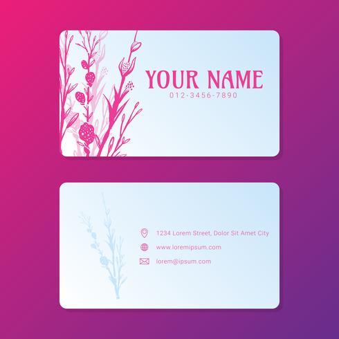 Floral sjabloon voor BusinessCard kunstwerken