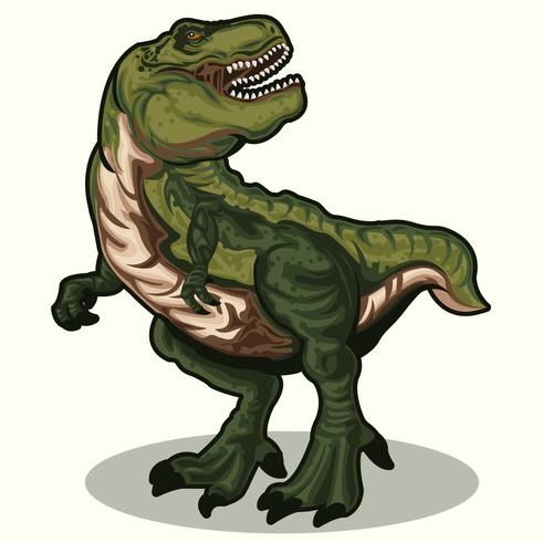 Realistic Dinosaurs T-Rex vector