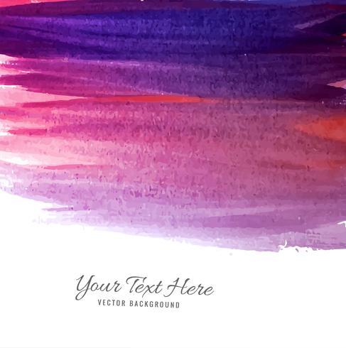 Moderna färgstarka hand rita akvarell bakgrund
