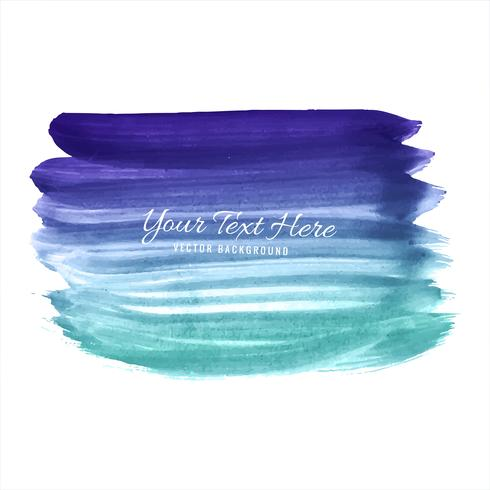 Hand draw colorful watercolor strokes background