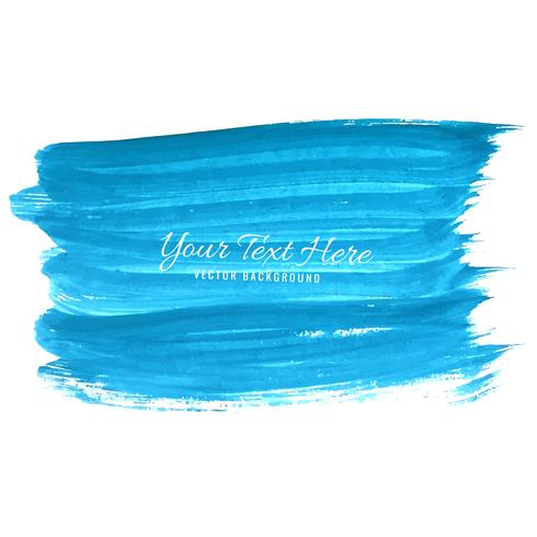 Hand draw blue watercolor strokes background vector