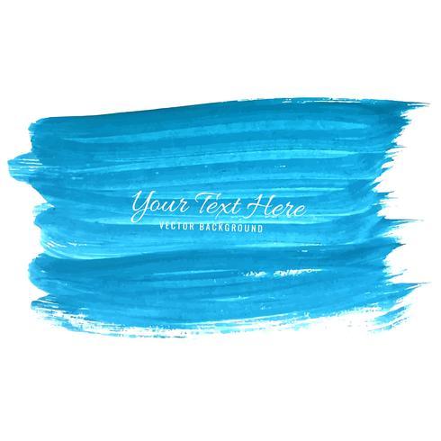 Mano disegnare sfondo blu tratti acquerello vettore