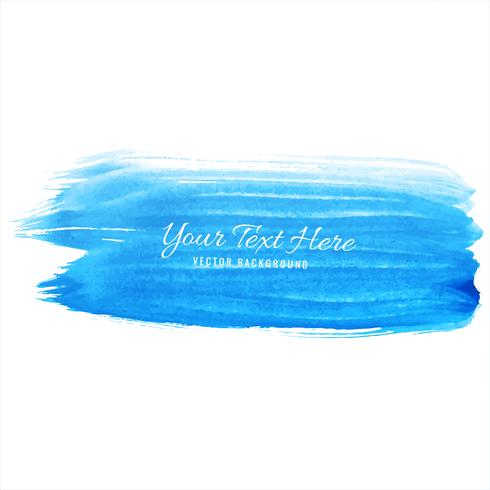 Abstract hand draw blue watercolor strokes background vector
