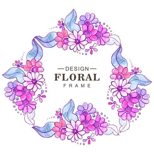 Priorità bassa floreale variopinta di cerimonia nuziale astratta vettore