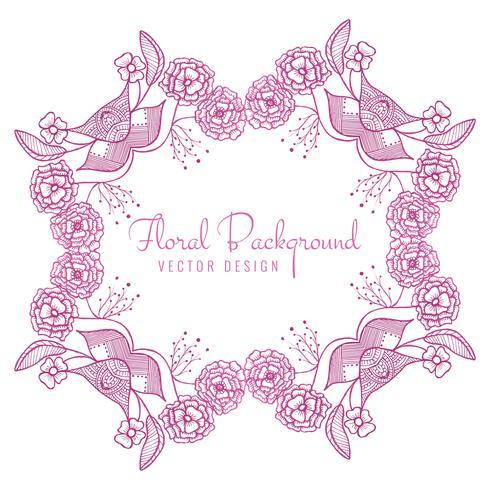 Fondo floreale della struttura di nozze decorative astratte vettore