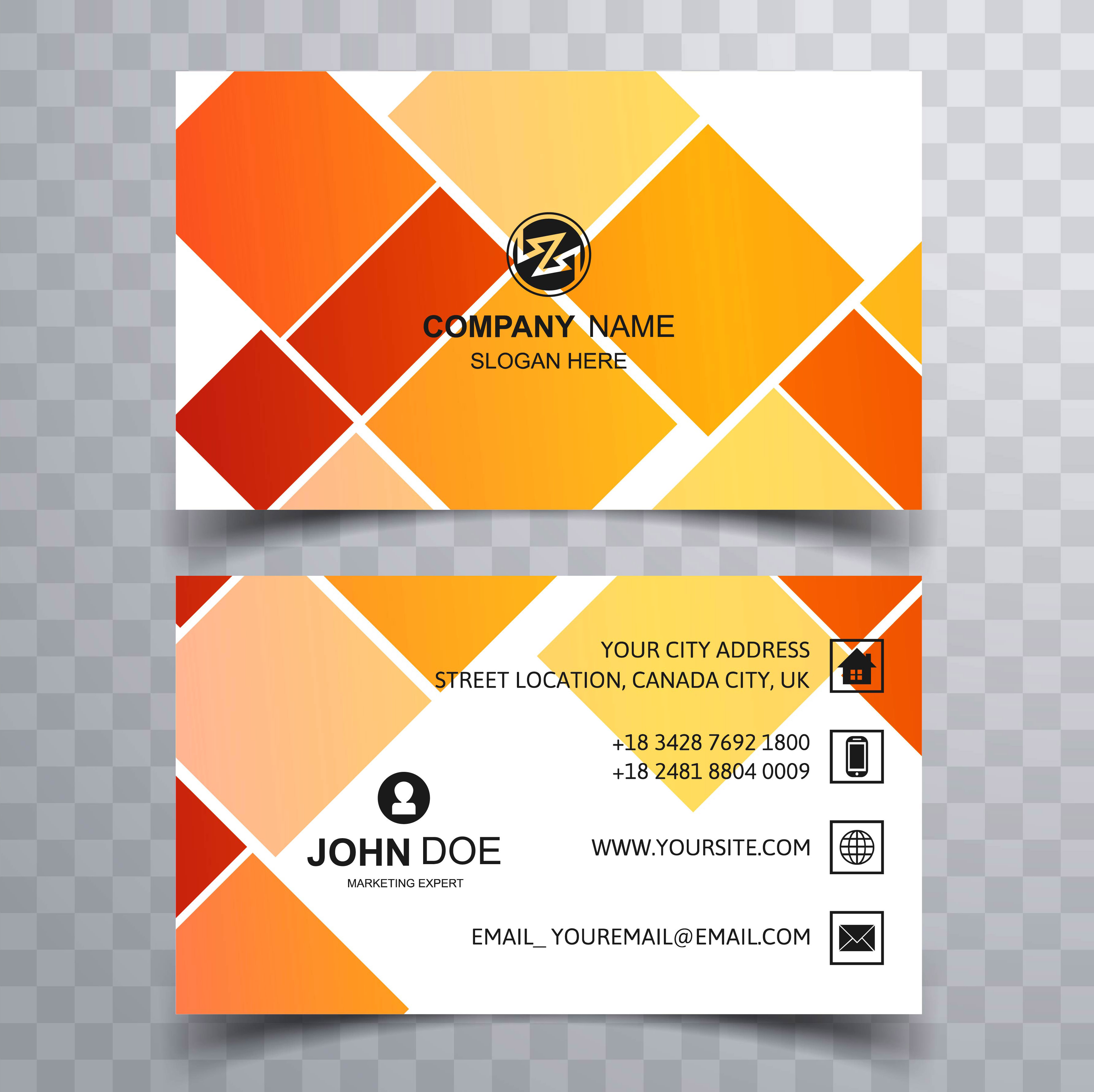 modern colorful creative visiting card background