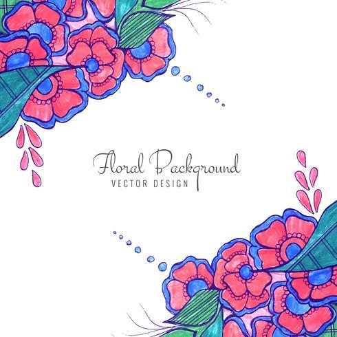 Moderne decoratieve creatieve huwelijks kleurrijke bloemenachtergrond