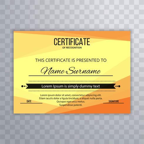 Modern helder certificaatsjabloonontwerp