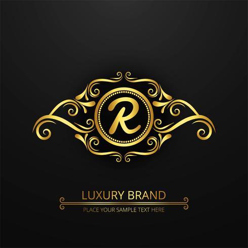 Moderne luxe merklogo achtergrond