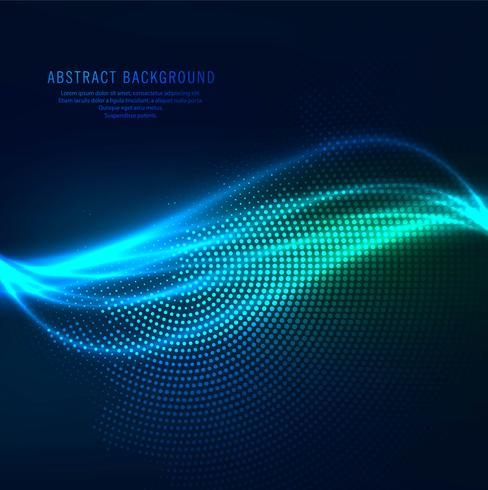 Abstract stylish shiny blue wave background vector
