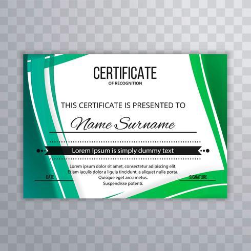 Schöner bunter Zertifikathintergrund