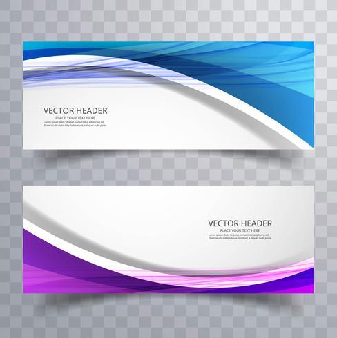 Vector de encabezado de onda de negocios creativo abstracto hermoso set vector