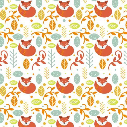 Plat kleurrijke Scandinavische folk patroon Vector sjabloon