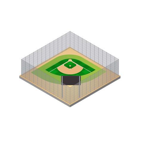 Baseball-Park-isometrischer Vektor