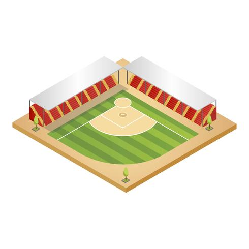 Baseball-Park isometrisch
