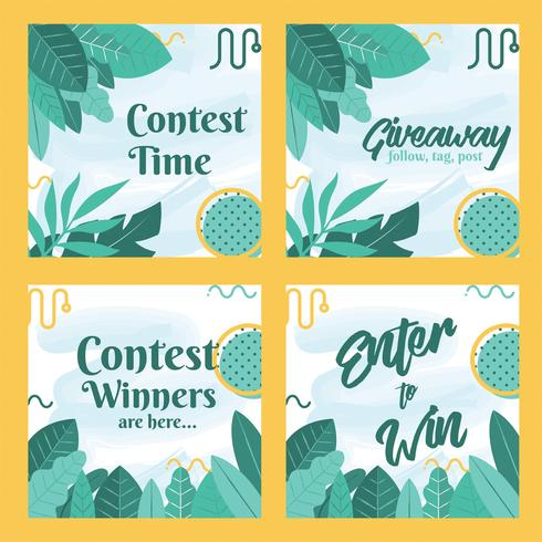 Instagram Wettbewerb Vorlage Vektor-Design