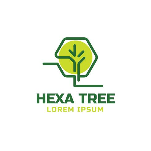 Hexa Baum Logo Vorlage