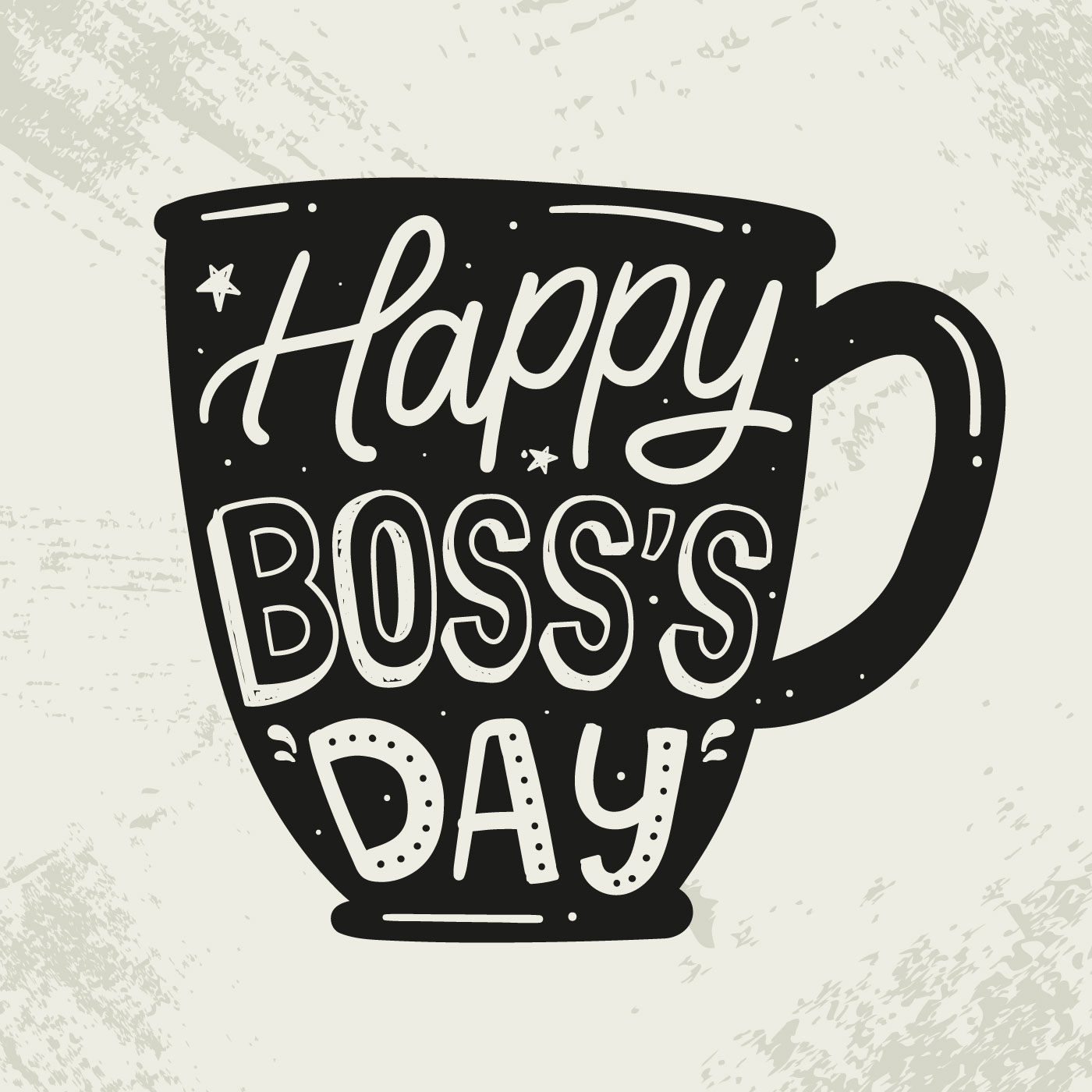 Happy Boss's Day Silhouette Lettering - Download Free ...