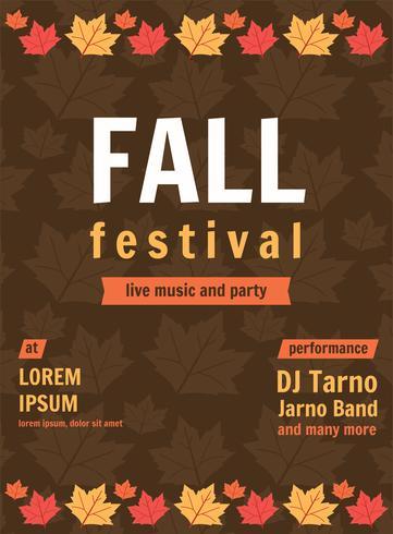 Herbst Festival Musik Poster