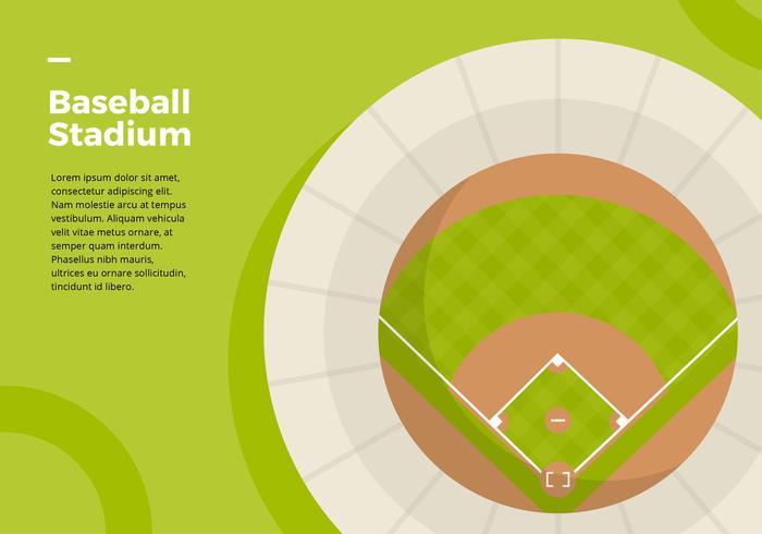 Baseball-Stadion-Draufsicht
