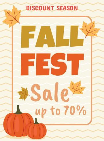 Herbstfest-Plakat-Schablone