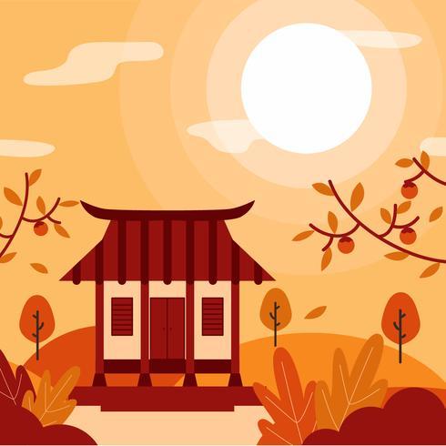 Chuseok  Celebration Background