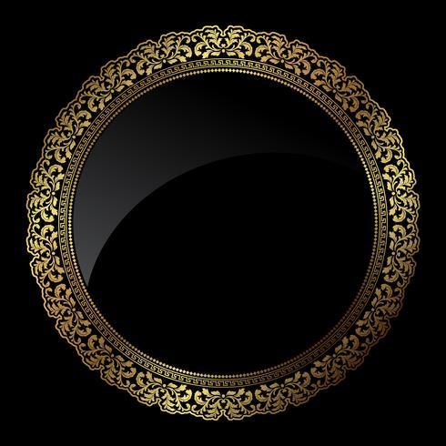 Kreisförmiger Goldrahmen