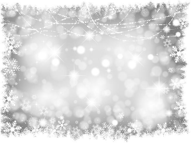 Silberne Weihnachtslichter Hintergrund