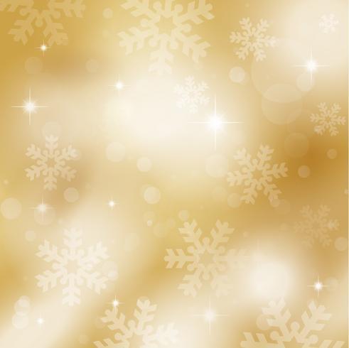 Gouden sneeuwvlokken en sterren