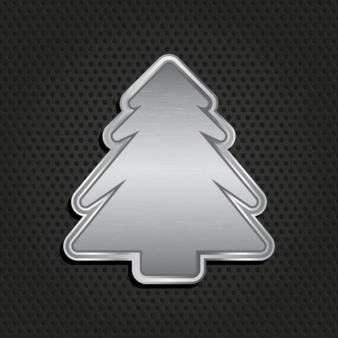 Fondo metálico del árbol de navidad vector