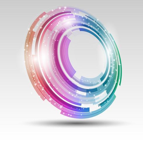 abstrakter kreisförmiger Entwurf