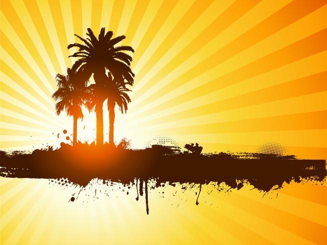 Grunge Sommer Palm Baum Hintergrund