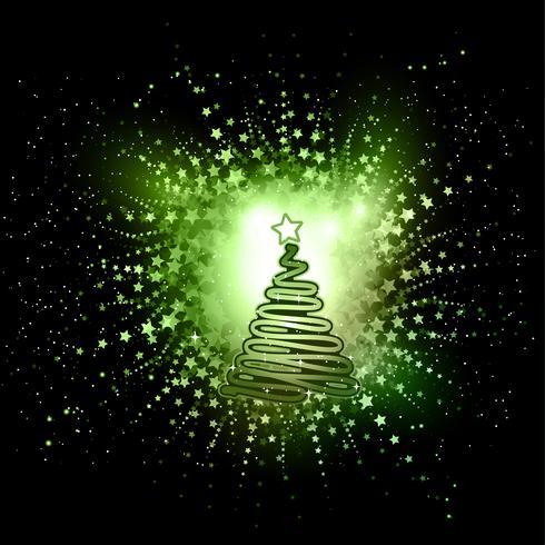 Abstrakter Weihnachtsbaumhintergrund