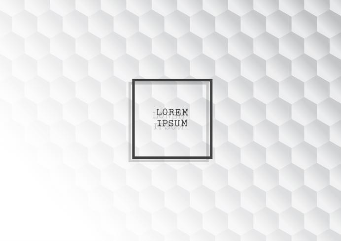 Abstracte achtergrond met zwart-wit zeshoekig patroon