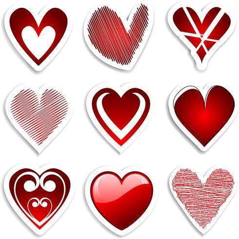 adesivos de coração
