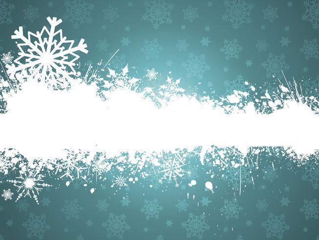 Grunge sneeuwvlokken
