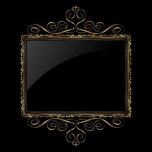 Decoratief gouden en zwart frame