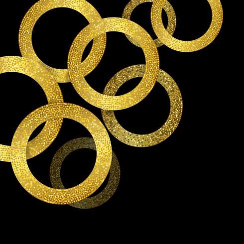 Glitzerndes Gold kreist Hintergrund ein vektor