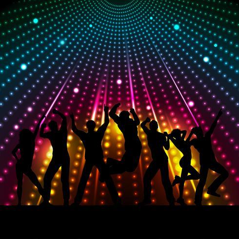 Pessoas discoteca vetor