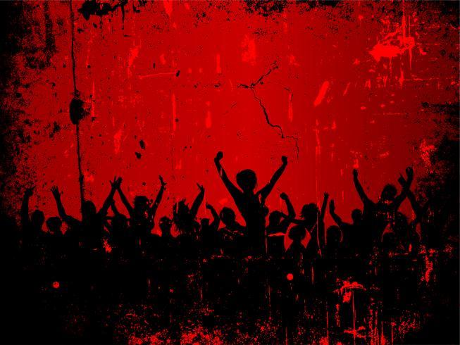 Audiência do grunge vetor