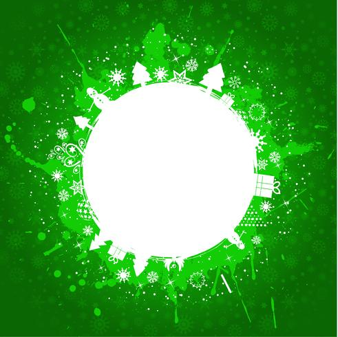Groene grunge Kerstmis achtergrond
