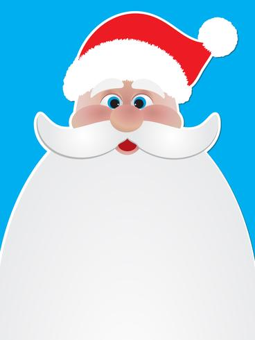 Christmas background of Santa Claus