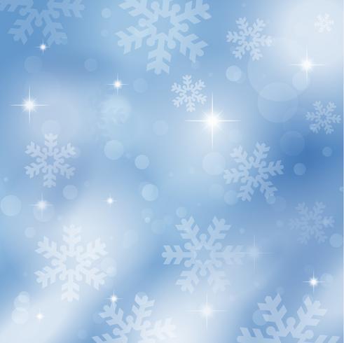 Fiocchi di neve e stelle vettore
