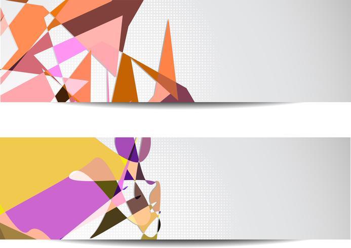 Abstrakte Banner